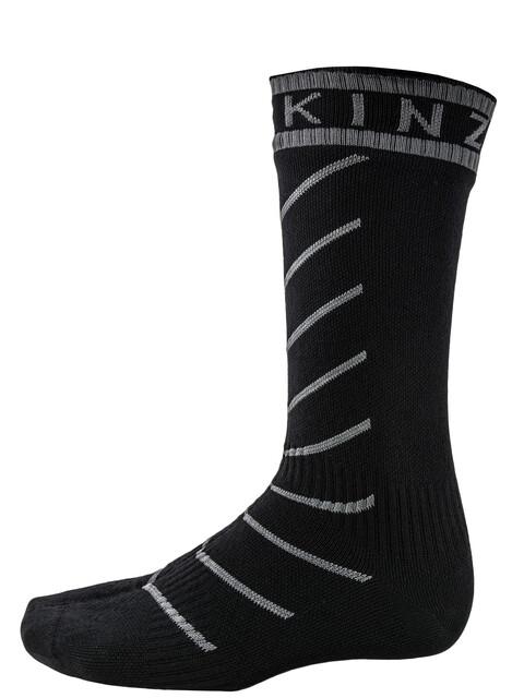 Sealskinz Super Thin Pro Mid Socks with Hydrostop Black/Grey